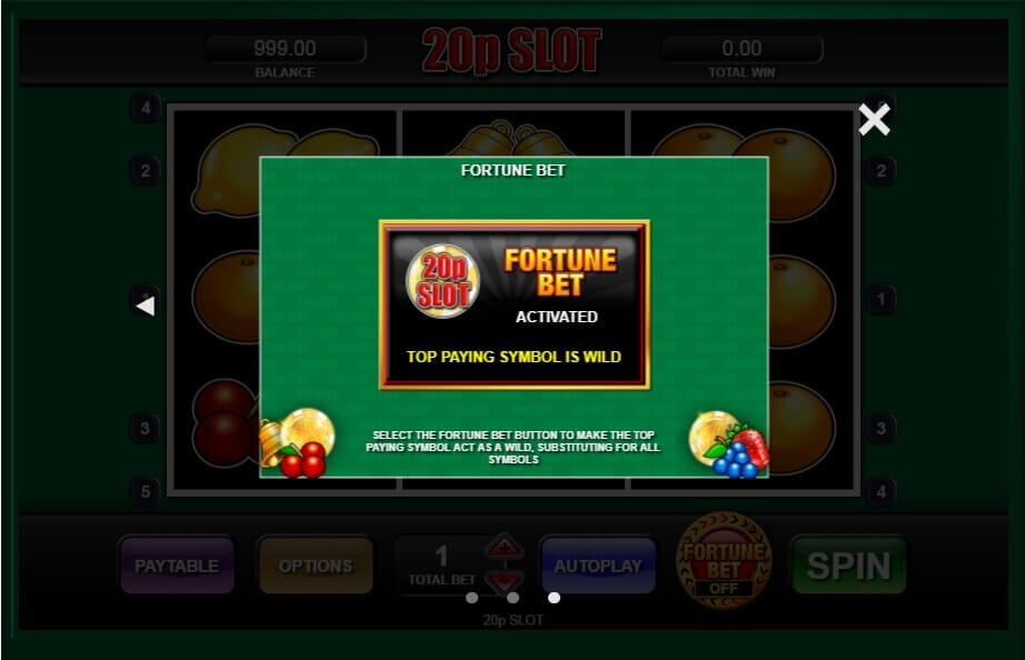 20p Slot S Bonus