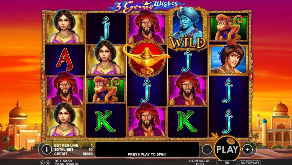 3 Genie Wishes Gameplay Image