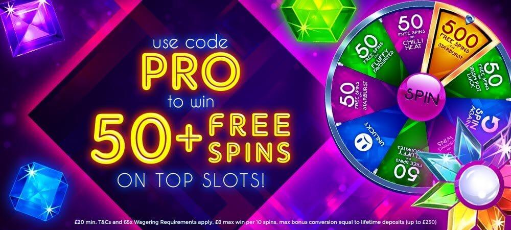 50 Free Spins - Daisy Slots