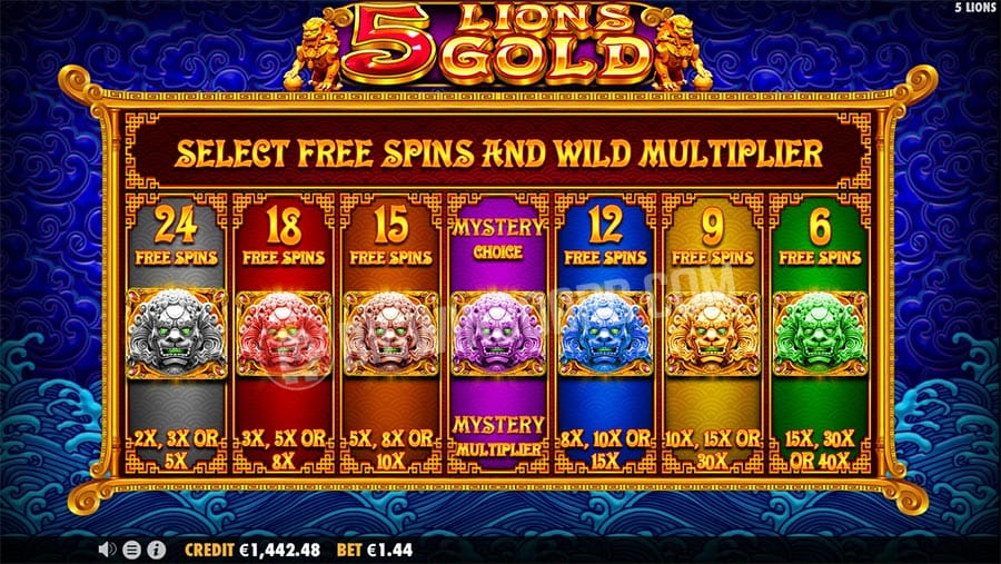 5 Lions Gold slot machine Gameplay