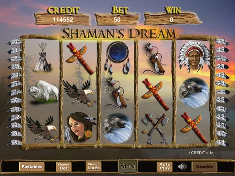 Shamans Dream Slot Gameplay