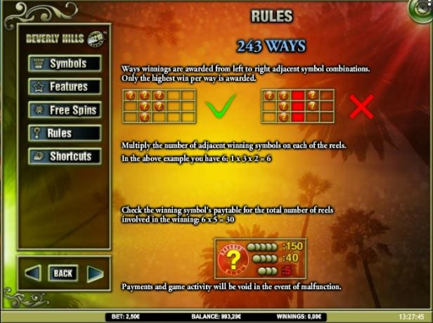Beverly Hills 90210 Slot Rules