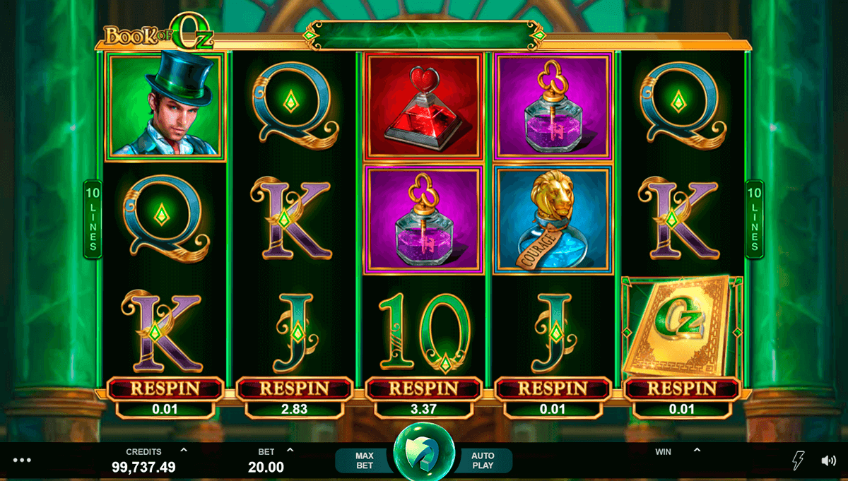 Book of Oz Slot Bonus