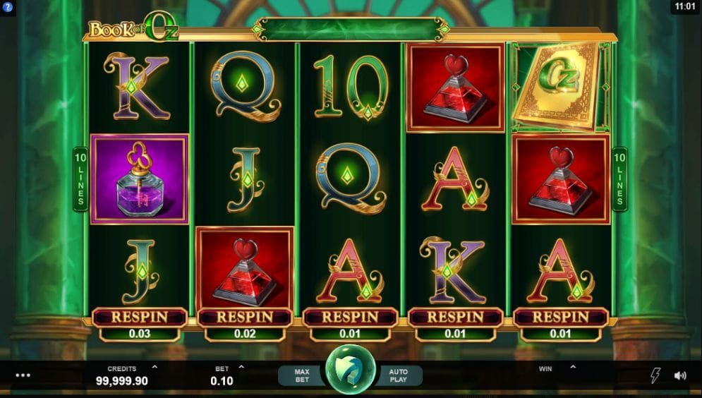 Book of Oz Slot Gameplay