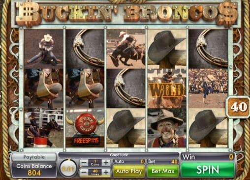 Buckin' Broncos Slot Bonus