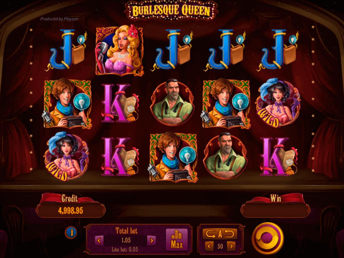 Burlesque Queen Slot Gameplay