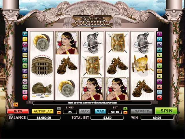 Call of the Colosseum Slot Gameplay