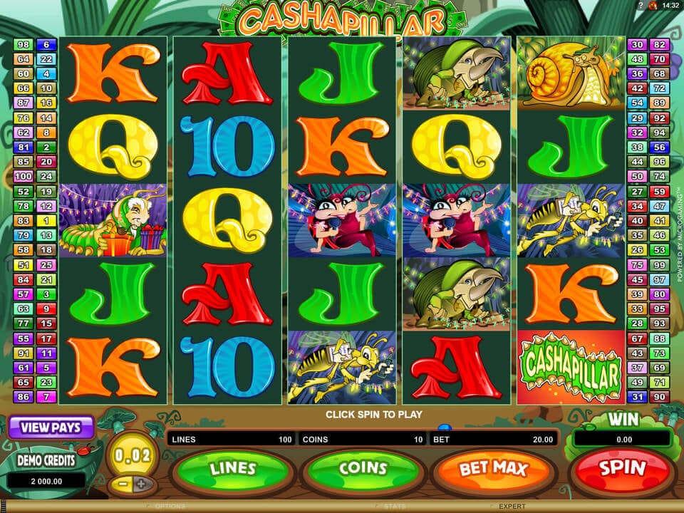 Cashapillar Slot Gameplay
