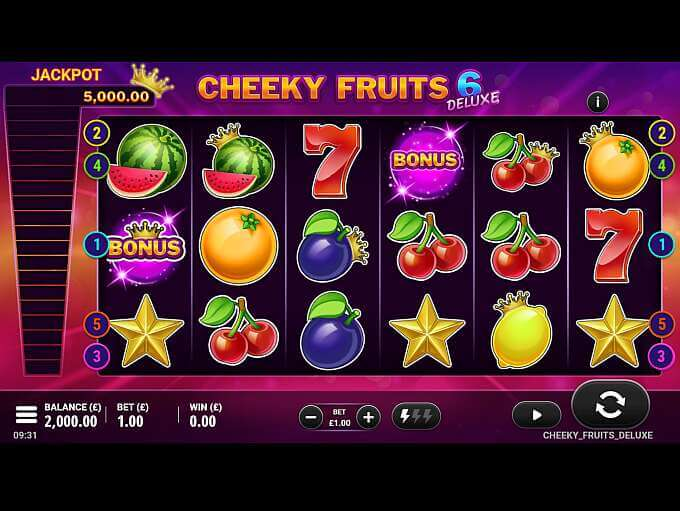 Cheeky Fruits 6 Deluxe Slot Gameplay
