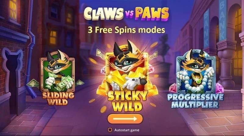 Claws vs Paws Slot Bonus