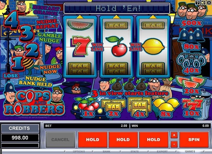 Cops and Robbers gameplay casino