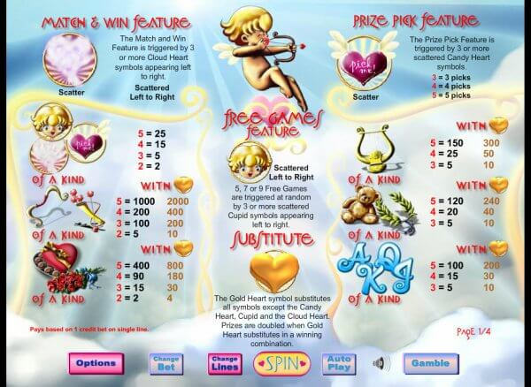 Cupids Arrow Slot Bonus