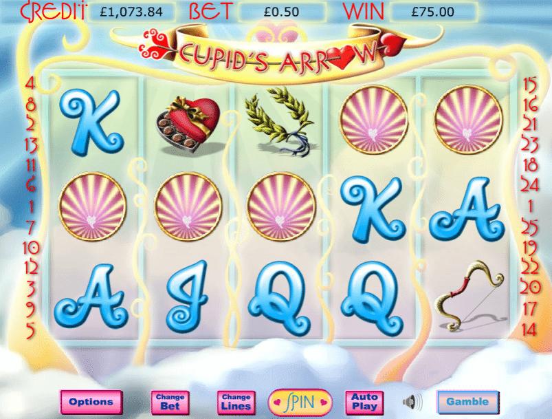 Cupids Arrow Slot Gameplay