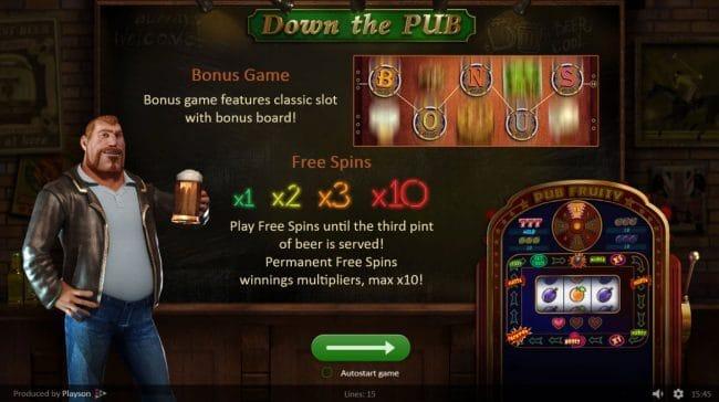 Down the Pub Slot Bonus