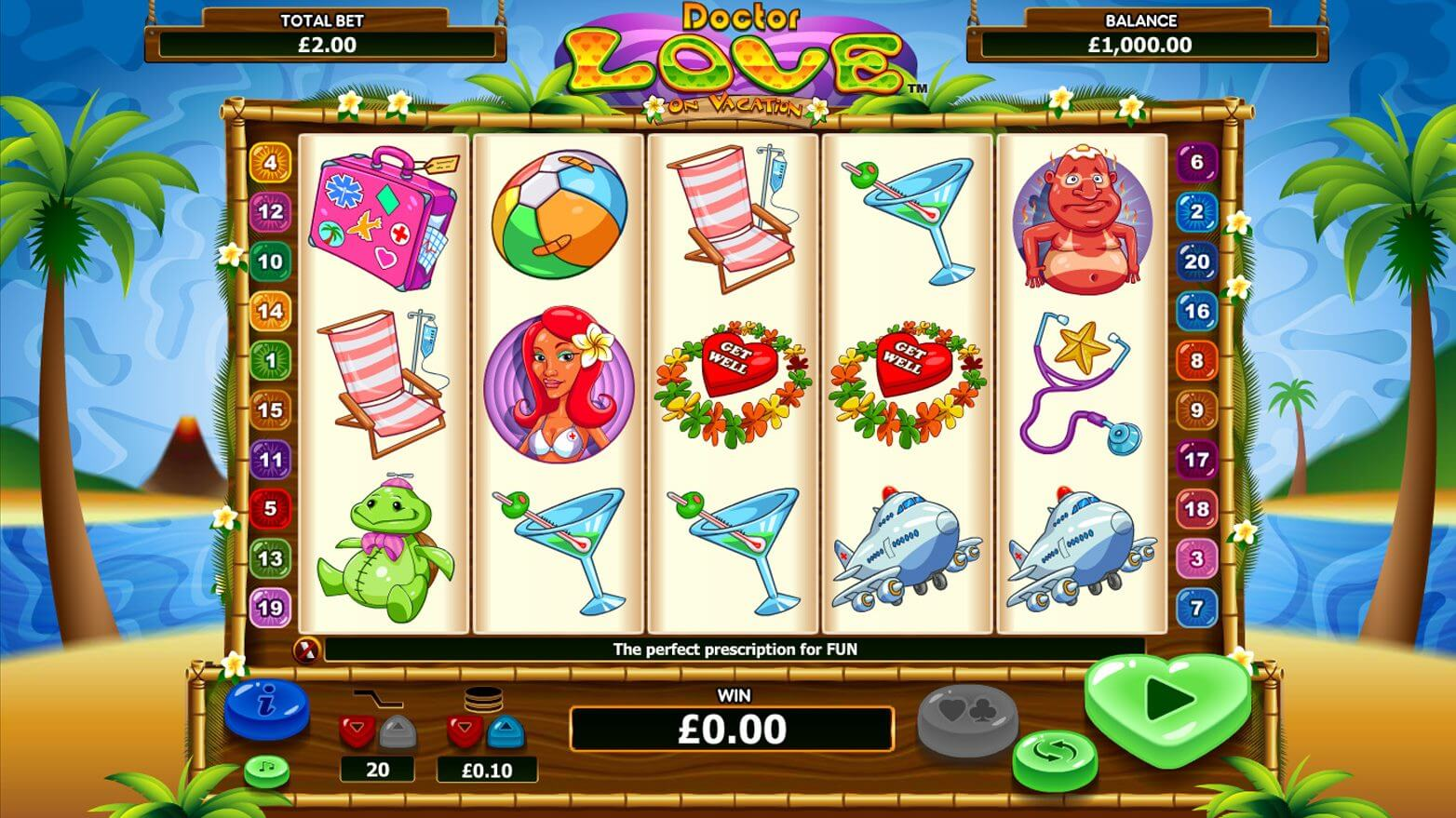Dr Love on Vacation Slot Gameplay