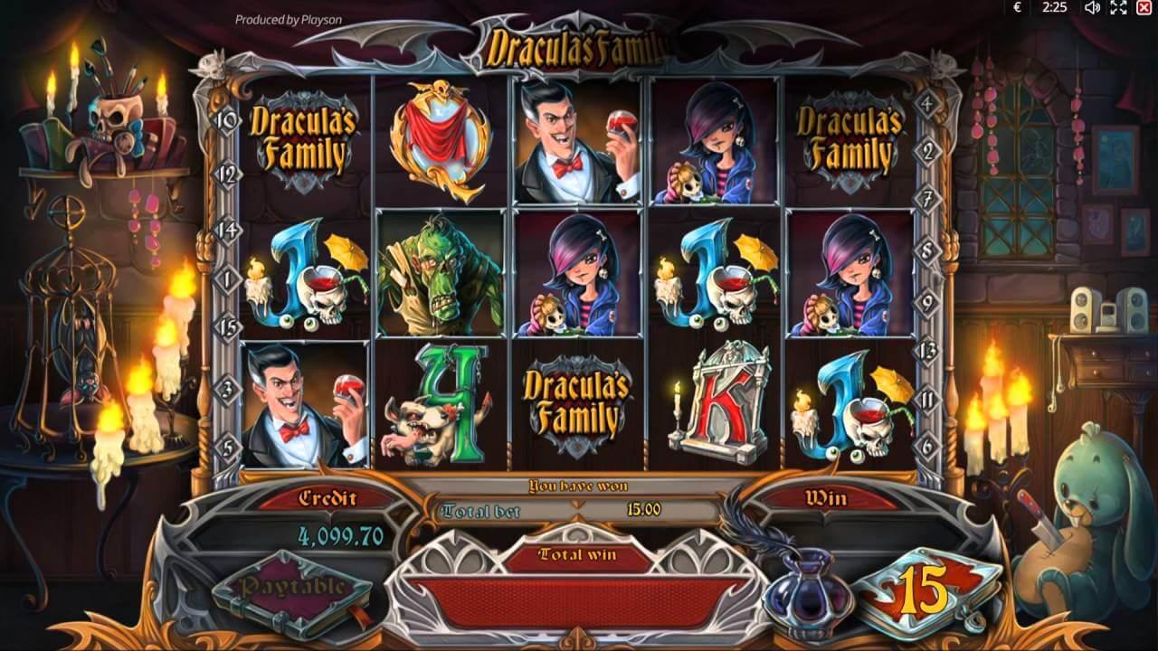 Draculas Family Slot Gameplay
