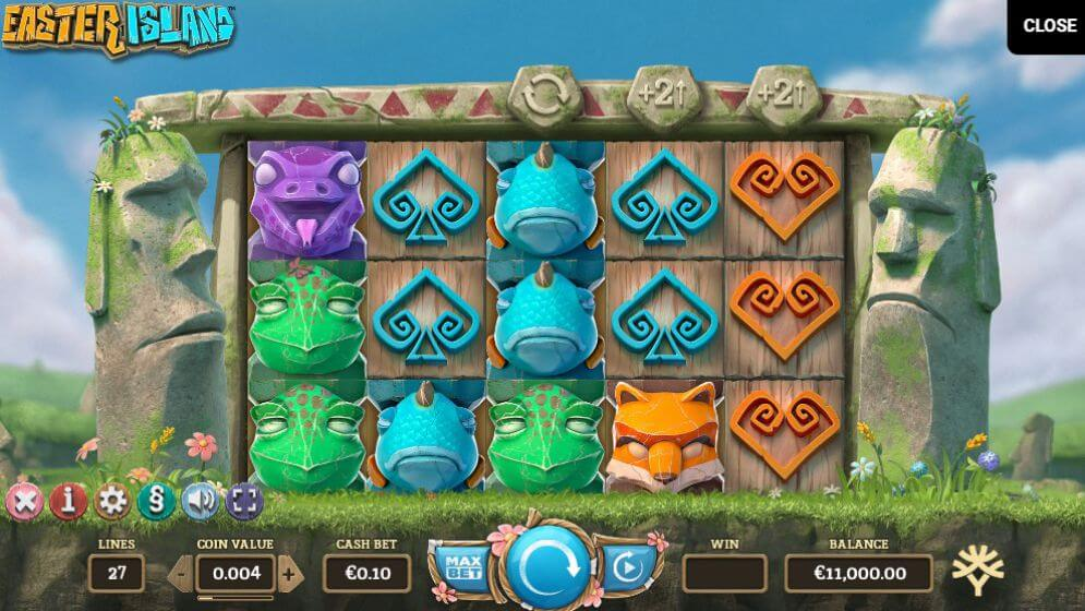 Easter Island Slot Gameplay - Yggdrasil