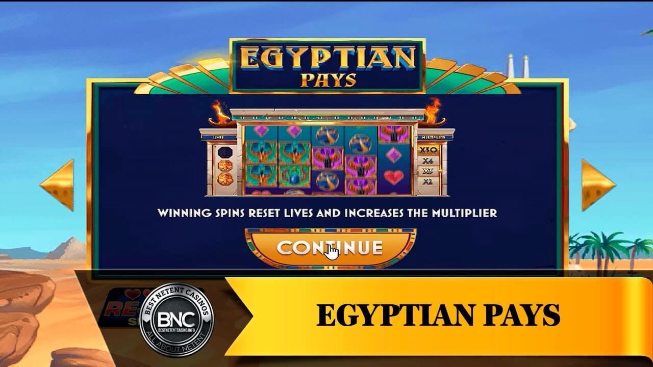 Egyptian Pays Slot Gameplay