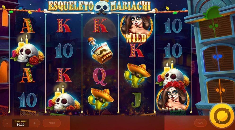 Esqueleto Mariachi Slot Gameplay