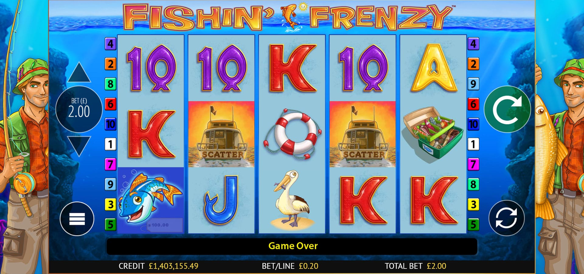 fishin frenzy gameplay daisy slots