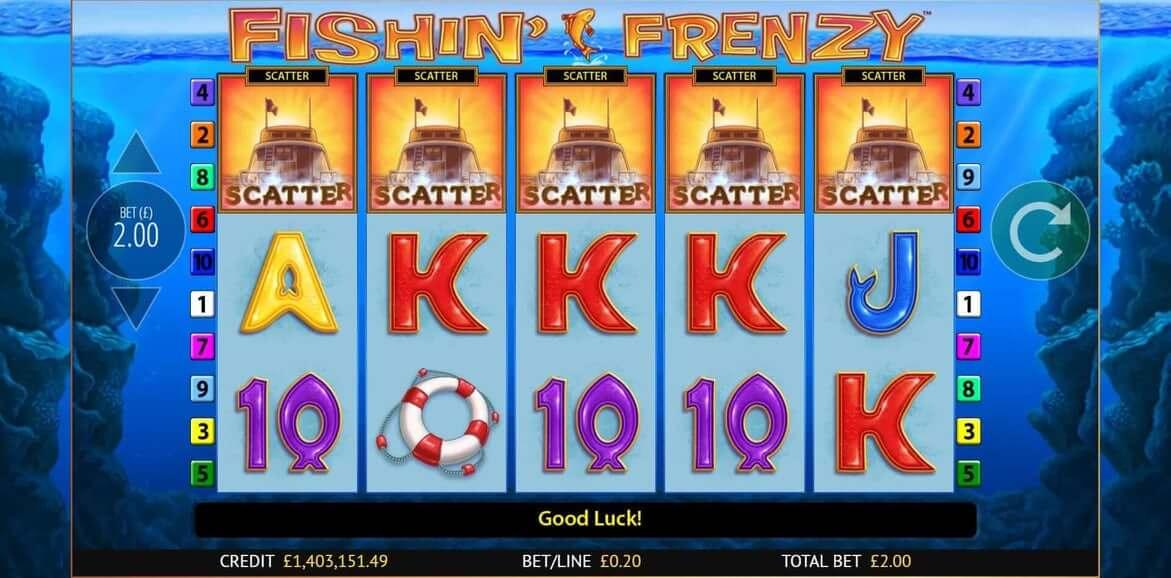 Fishin Frenzy Scratchcard Gameplay