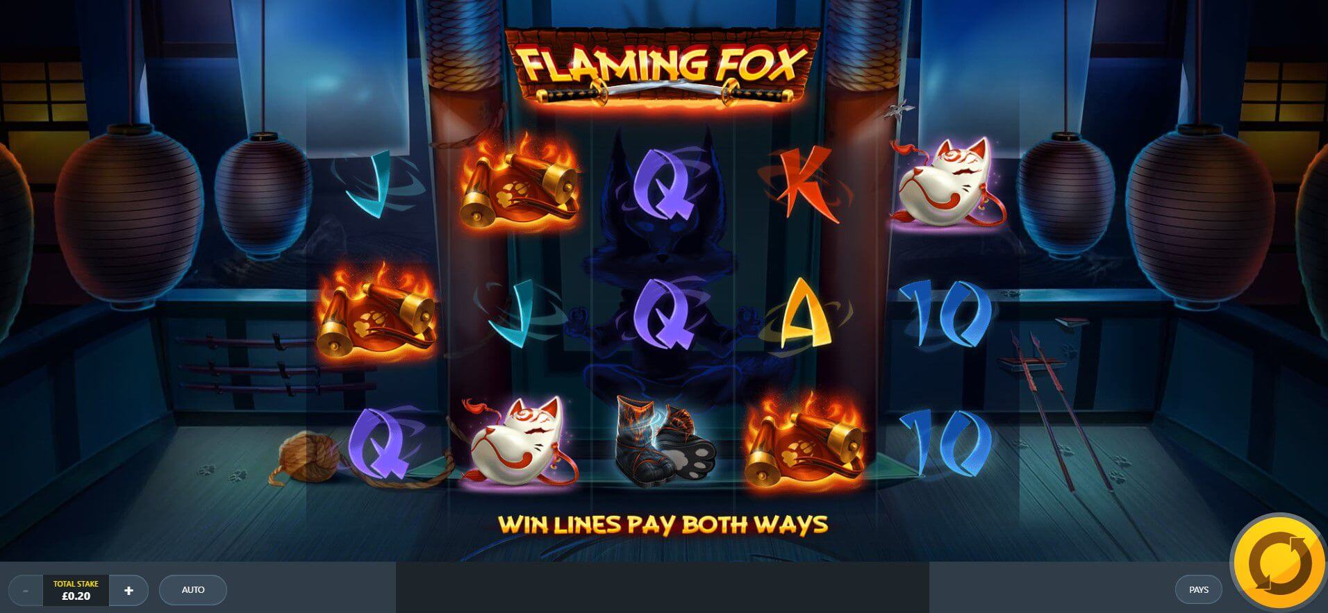 Flaming Fox Slot Gameplay