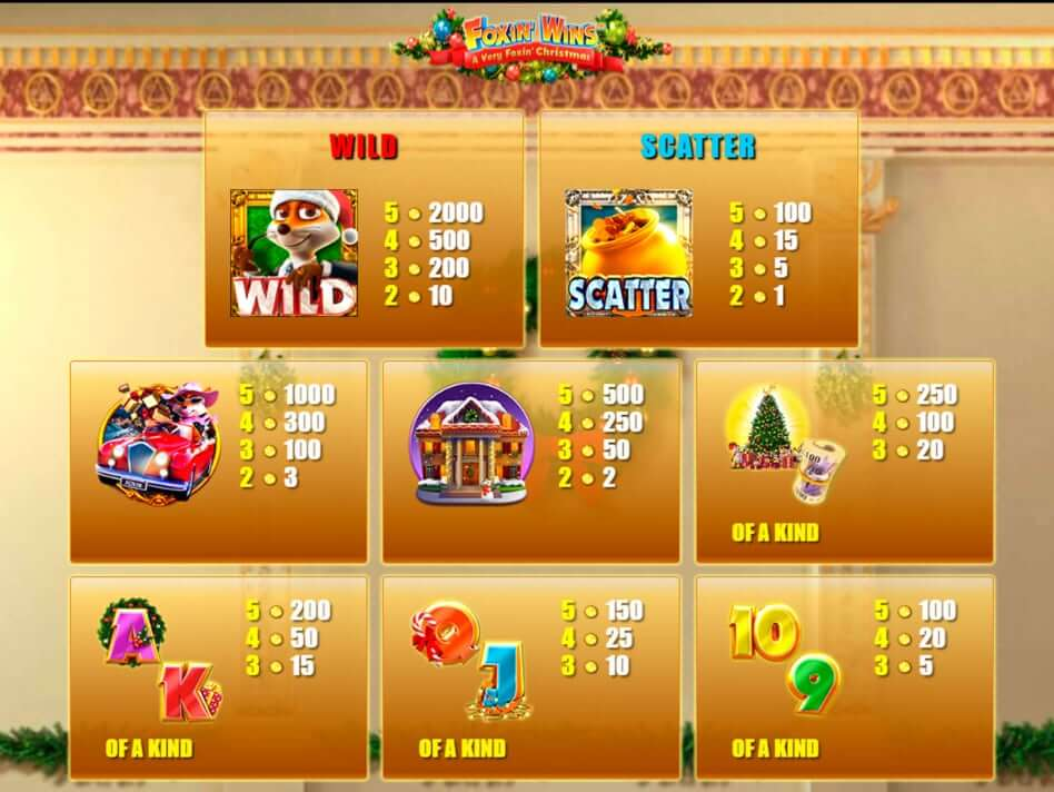 Foxin Wins Christmas Slot Bonus