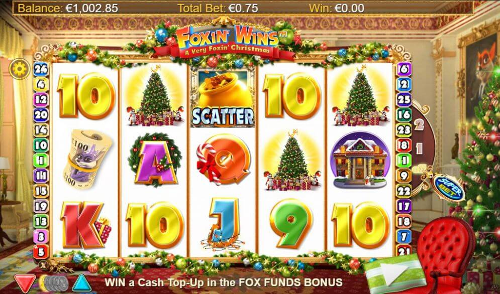 Foxin Wins Christmas Slot Gameplay