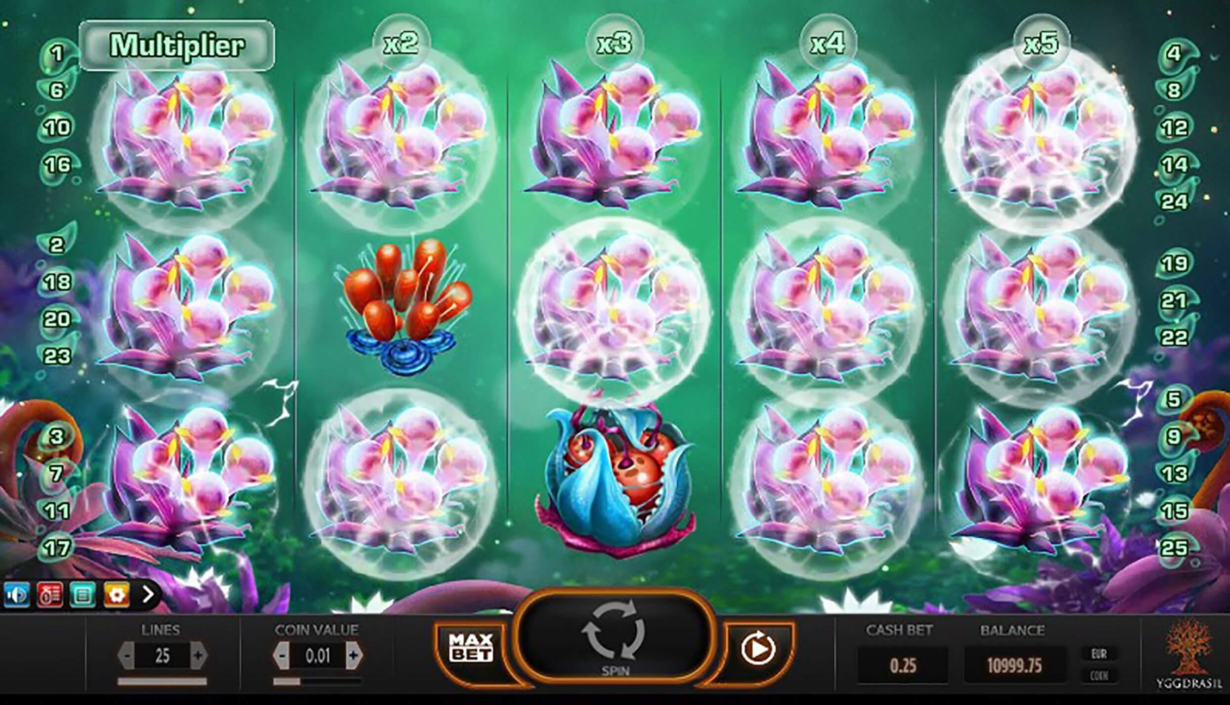 Fruitoids Slot Bonus