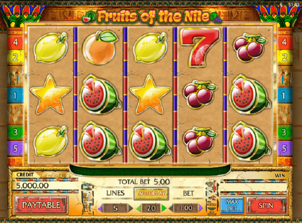 Fruits of the Nile Slot Gameplay