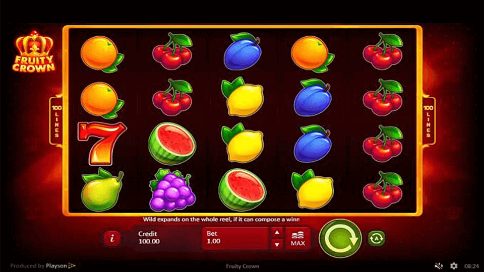 Fruity Crown Slot Gameplay