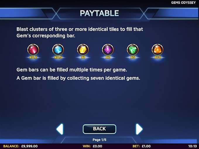 Gems Odyssey Slot Bonus