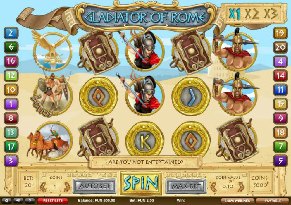 Gladiator of Rome Slot Gameplay