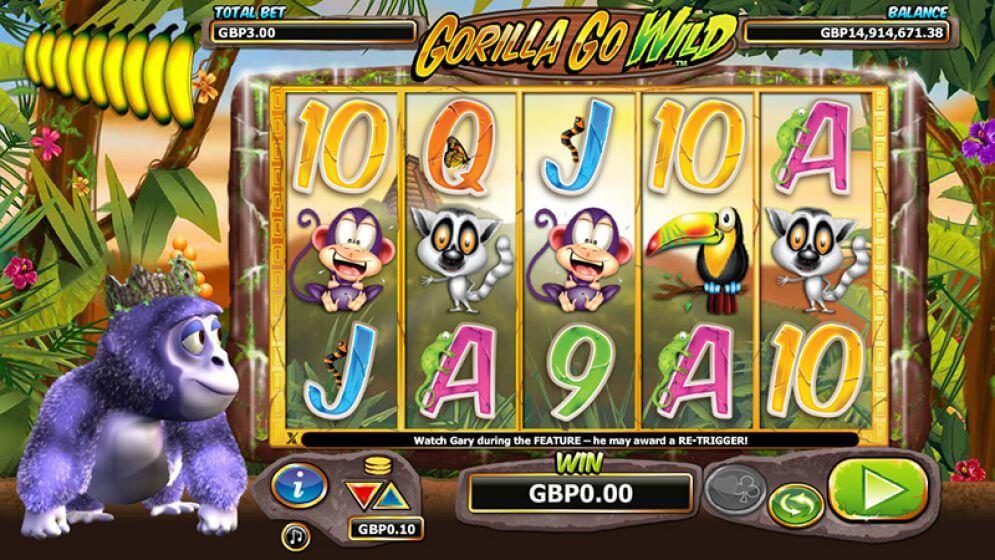 Gorilla Go Wild Slot Gameplay