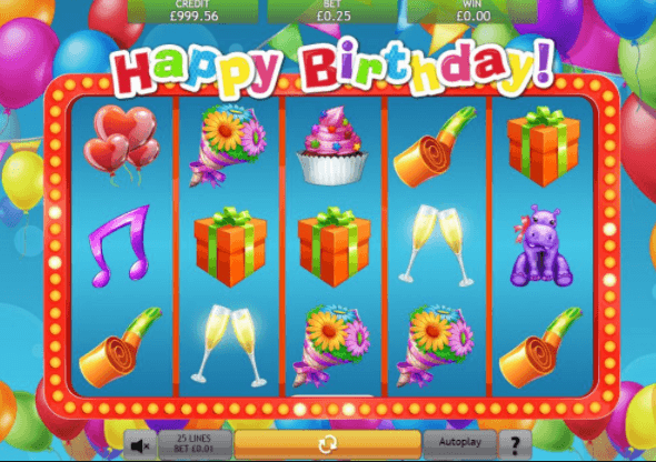 Happy Birthday Slot Gameplay