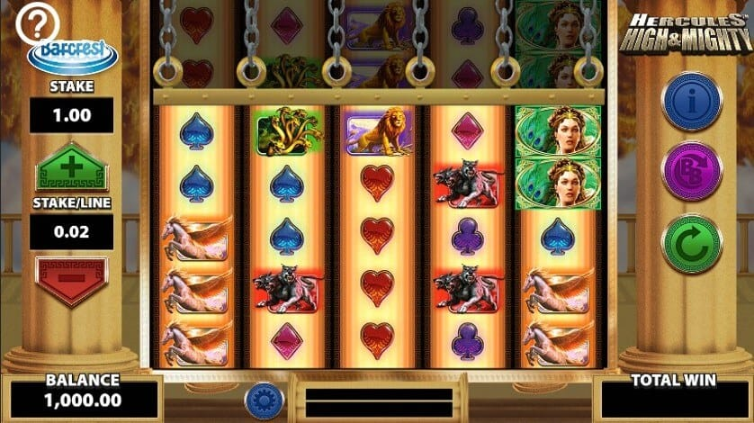 Hercules High and Mighty Slot Gameplay