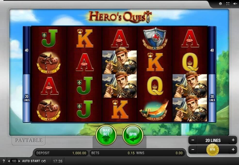 Heroes Quest Slot Gameplay