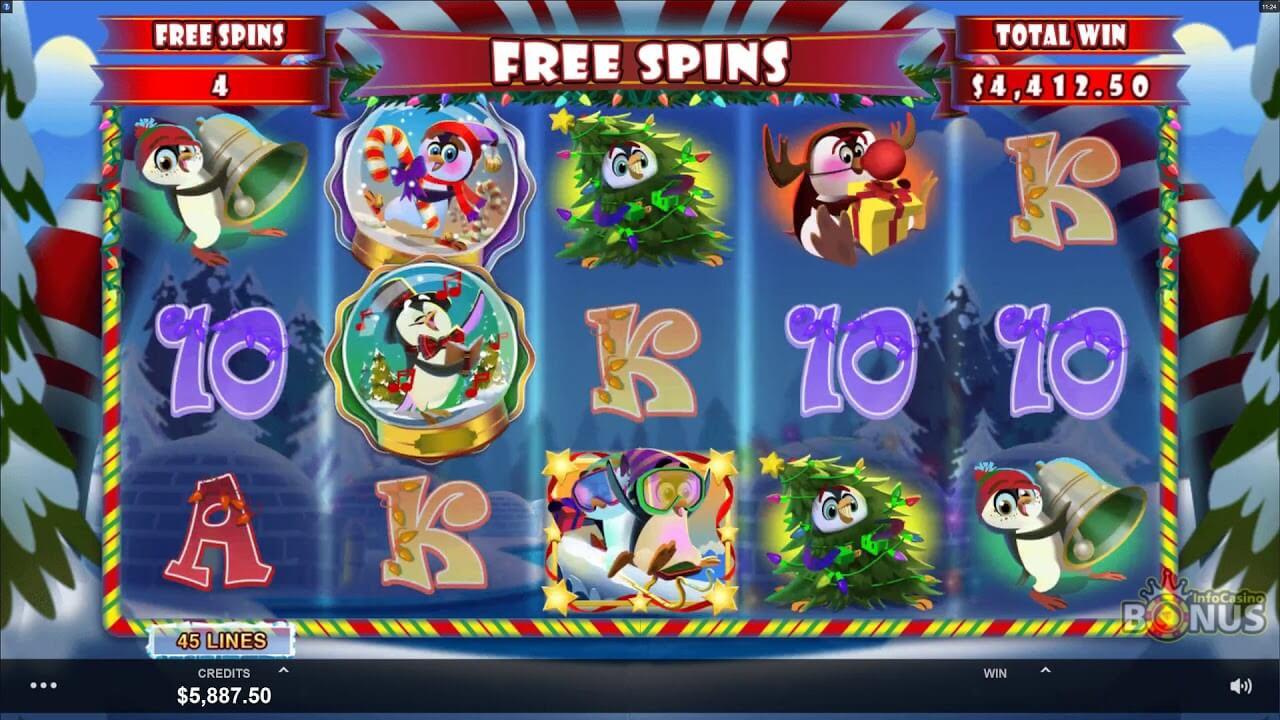 Holly Jolly Penguins Slot Bonus