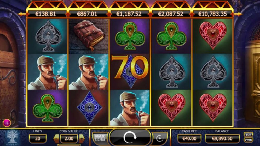 Holmes and the Stolen Stones Slot Gameplay