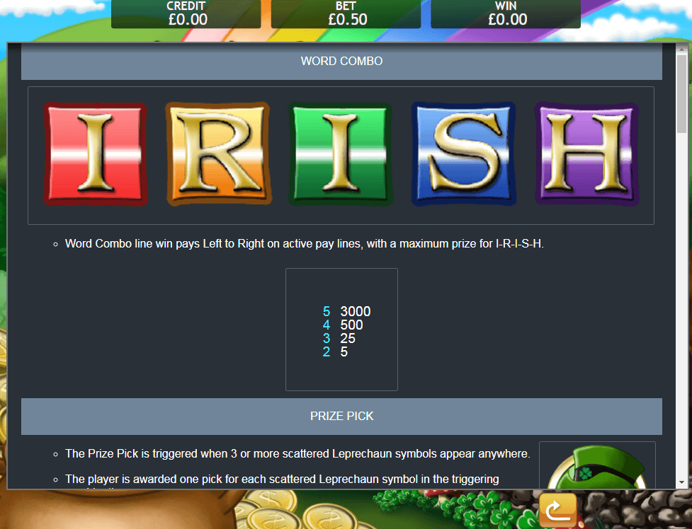 Irish Luck Bonus