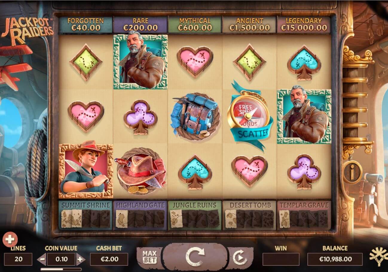 Jackpot Raiders Gameplay