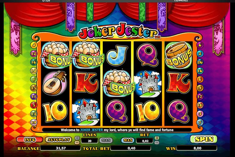 Joker Jester Slot Gameplay