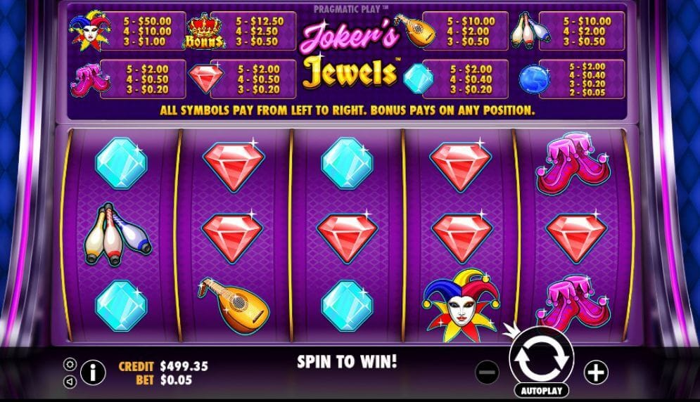 Jokers Jewels Slot Bonus