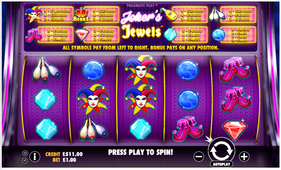 Jokers Jewels Slot Gameplay