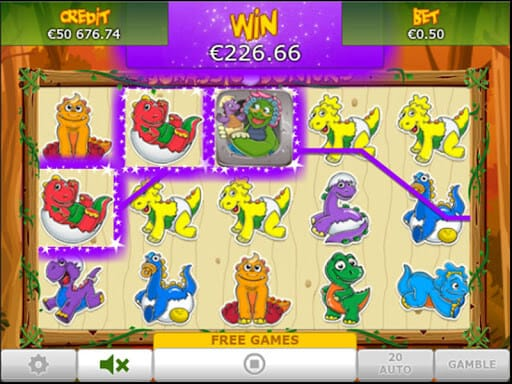 Jurassic Juniors Slot Bonus