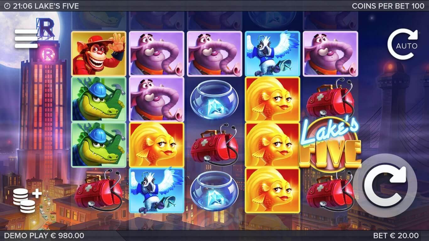 Lakes Five Slot Gameplay