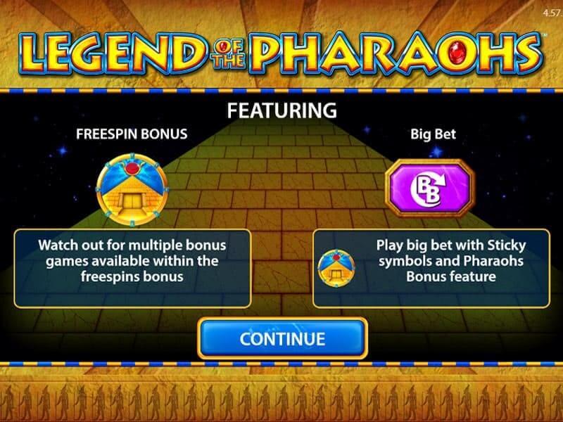 Legend of the Pharaohs Slot Bonus