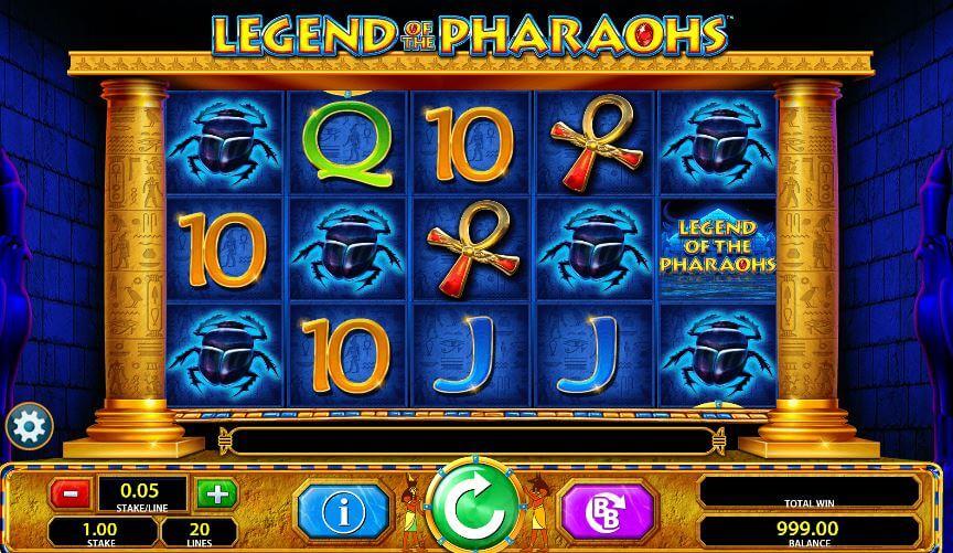 Legend of the Pharaohs Slot Gameplay