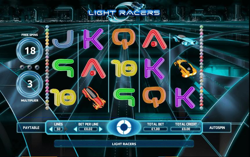 Light Racers Slot Gameplay