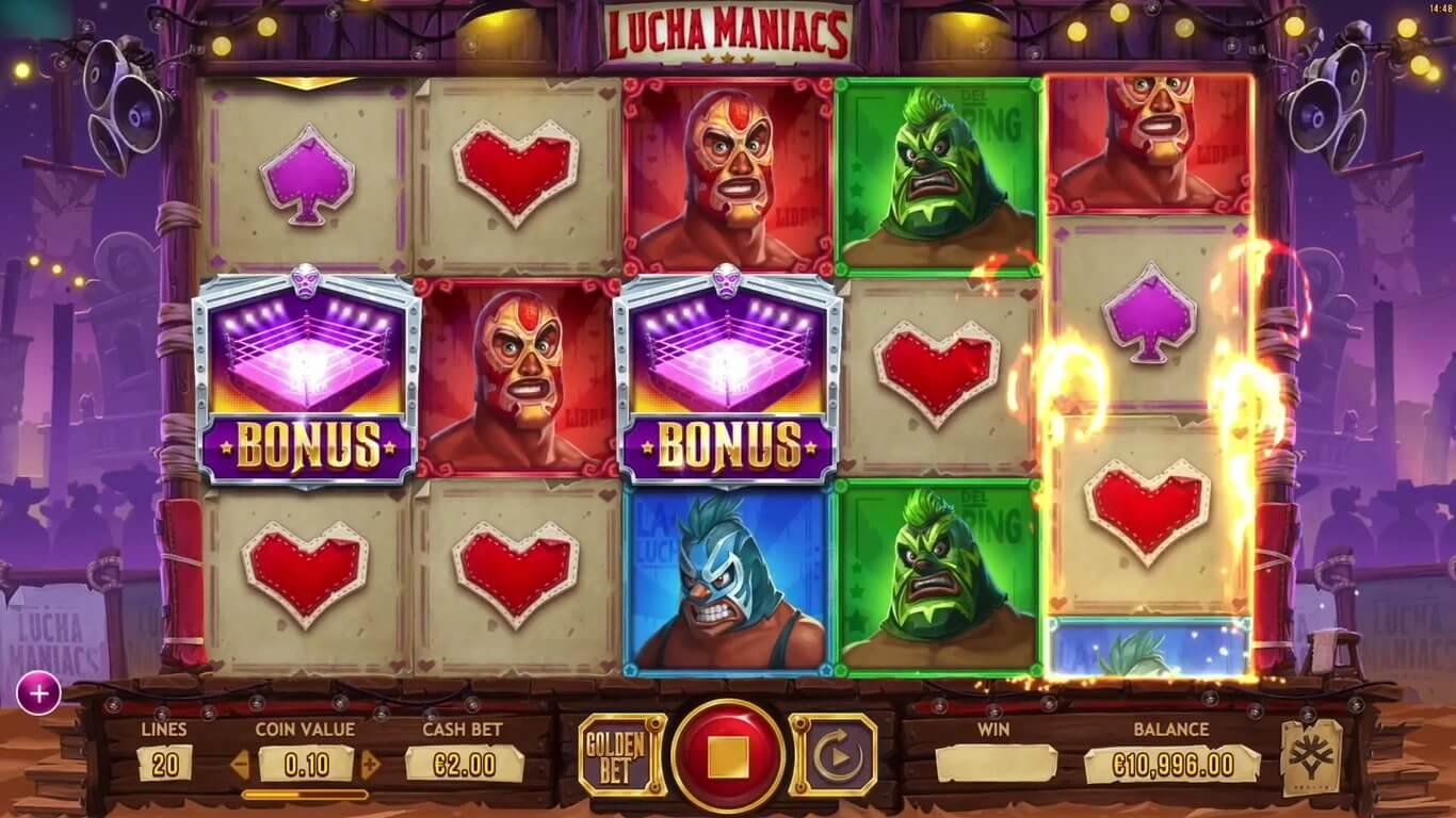 Lucha Maniacs Slot Gameplay